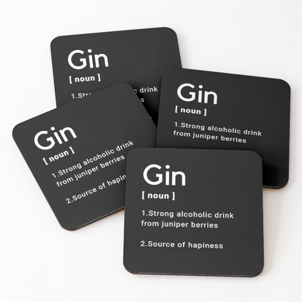 Gin Meaning Coasters (Set of 4)