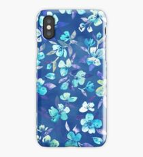 Grown Up Betty - blue watercolor floral iPhone Case/Skin
