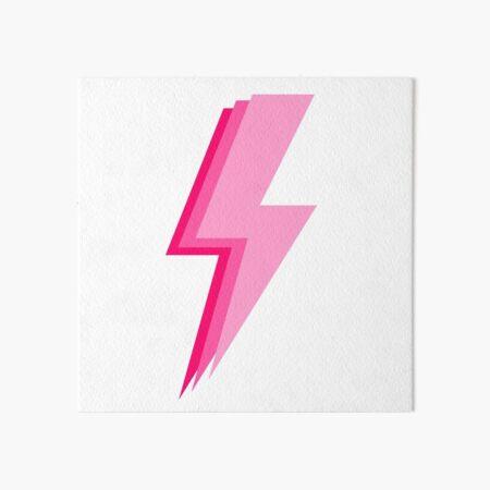 Layered trendy hot pink and light pink lightning bolt Art Board Print