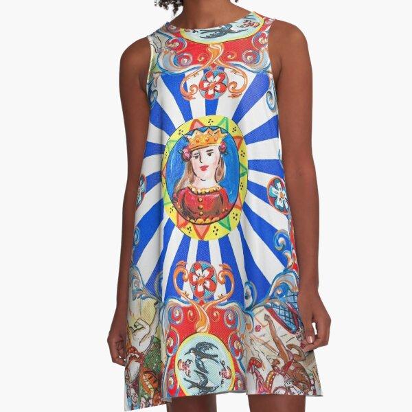 Sicilian Art A-Line Dress