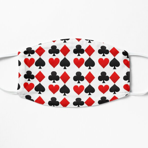 Hearts Diamonds Clubs Spades Playing Card Flat Mask