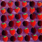 Strawberries and Plums by Julie Nicholls