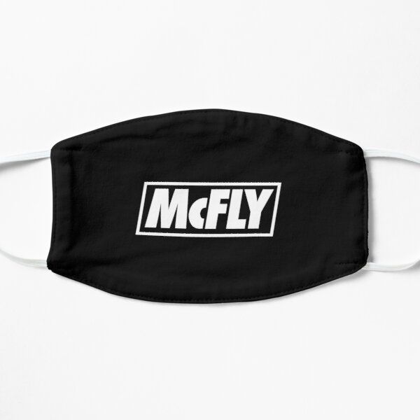 mcfly new logo 2020 in white young dumb thrills Flat Mask