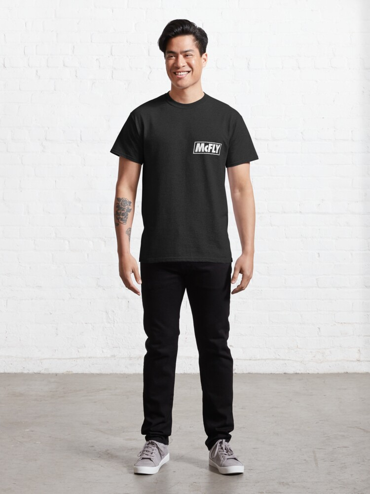 Alternate view of mcfly new logo 2020 in white young dumb thrills Classic T-Shirt