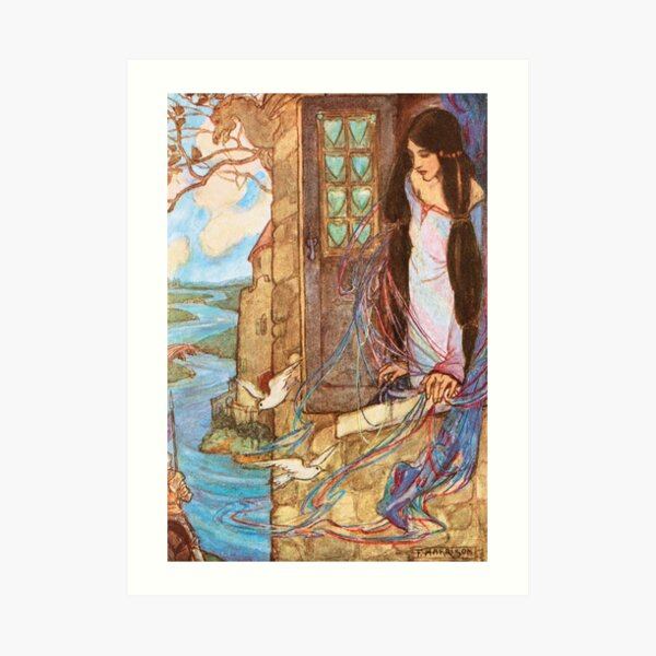 Florence Harrison Tennyson Dreams Illustration Art Print