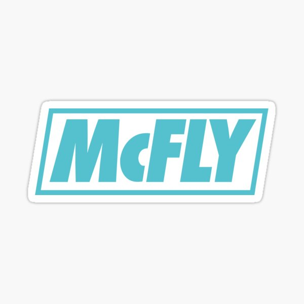 mcfly new logo 2020 in teal young dumb thrills Sticker