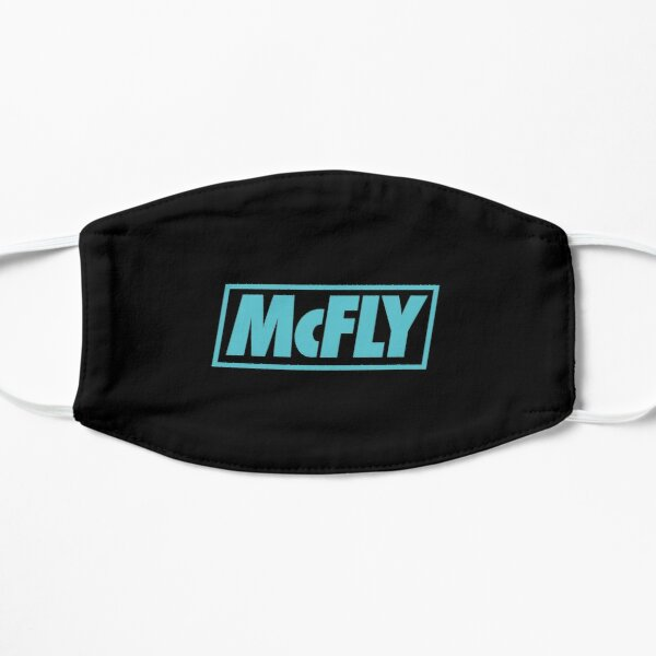 mcfly new logo 2020 in teal young dumb thrills Flat Mask