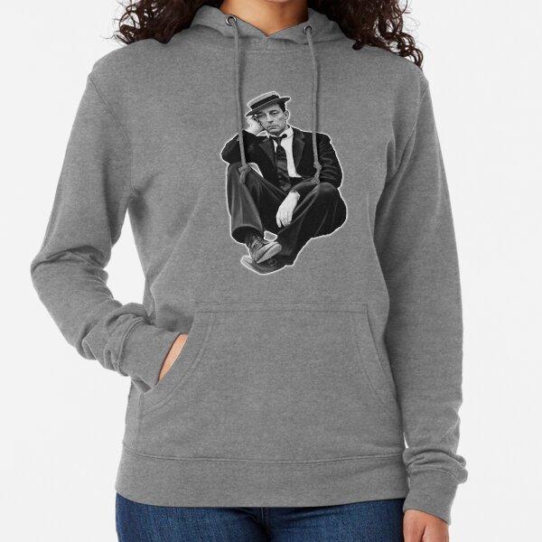 Buster Keaton. On White. Lightweight Hoodie