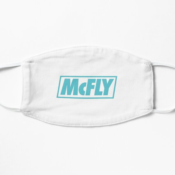 mcfly new logo 2020 in teal young dumb thrills 2 Flat Mask
