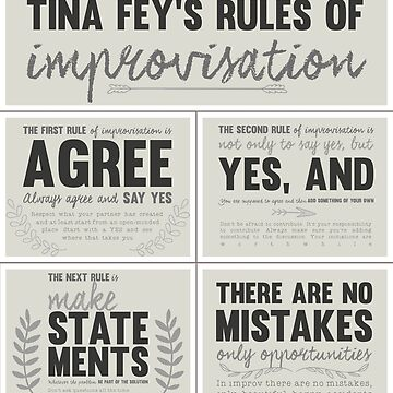 Tina Fey's rules of improvisation by lacacamola