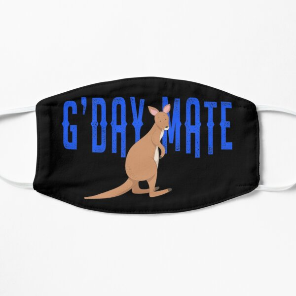 G'Day Mate Australia Cute Kangaroo  Flat Mask