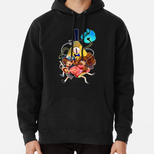 Dipper Mabel and Bill Cipher Pullover Hoodie