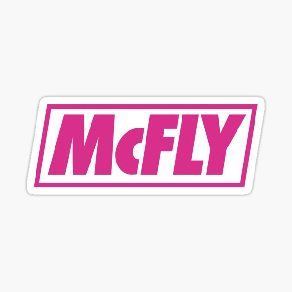 mcfly new logo 2020 in pink young dumb thrills  Sticker