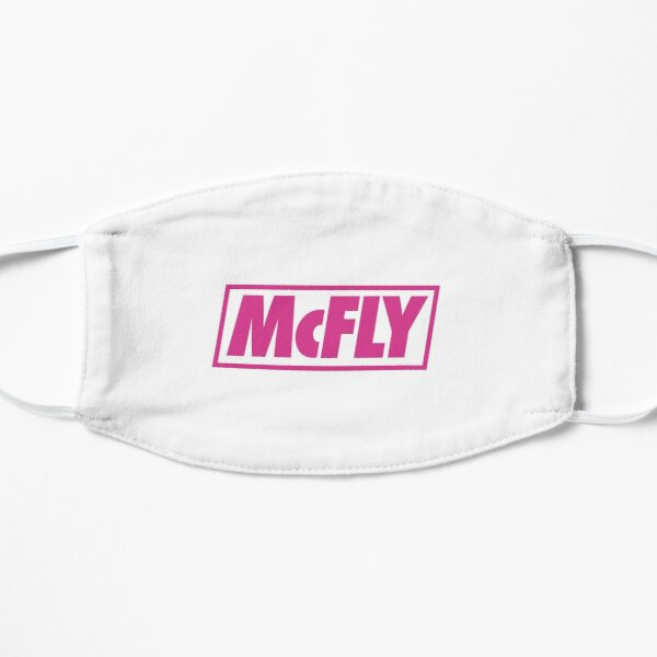 mcfly new logo 2020 in pink young dumb thrills  Flat Mask