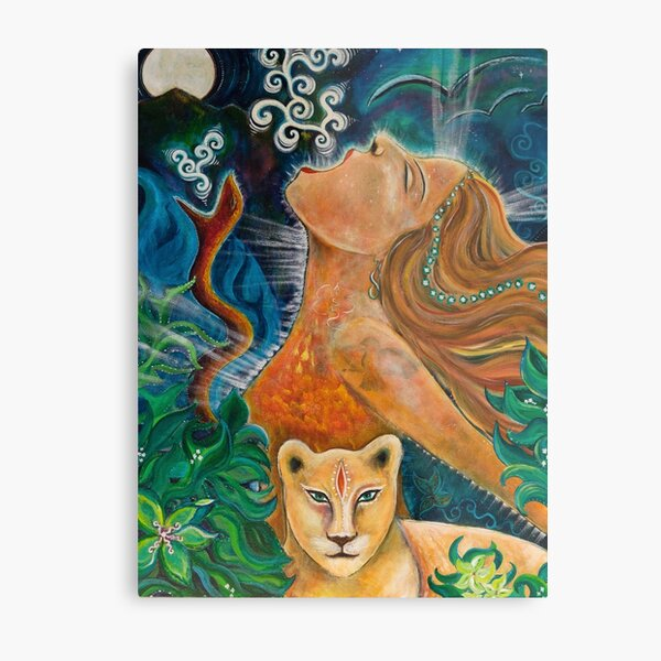She Who Frees Her Voice Metal Print
