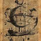 Victorian Steampunk Flying Machine by DictionaryArt