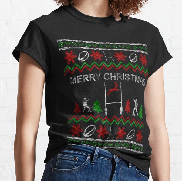 Rugby Christmas Jumper Classic T-Shirt
