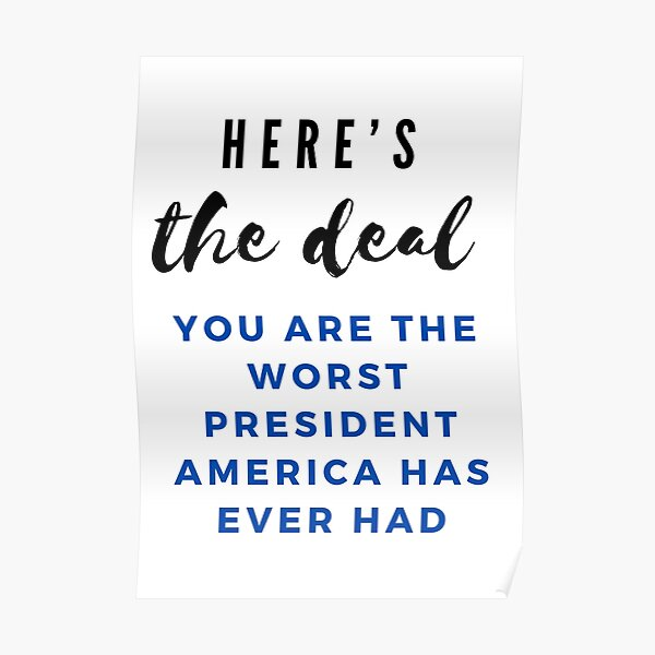 """United States Presidential Debate Biden """"heres the deal"""" Quote Poster"""
