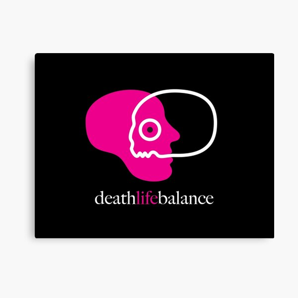 death life balance Leinwanddruck
