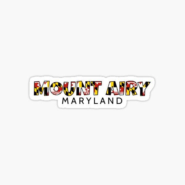 Mount Airy Maryland flag word art Sticker