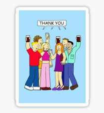 Thanks for a great party. Sticker