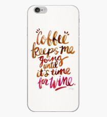 Coffee & Wine – Brown & Magenta Ombré iPhone Case