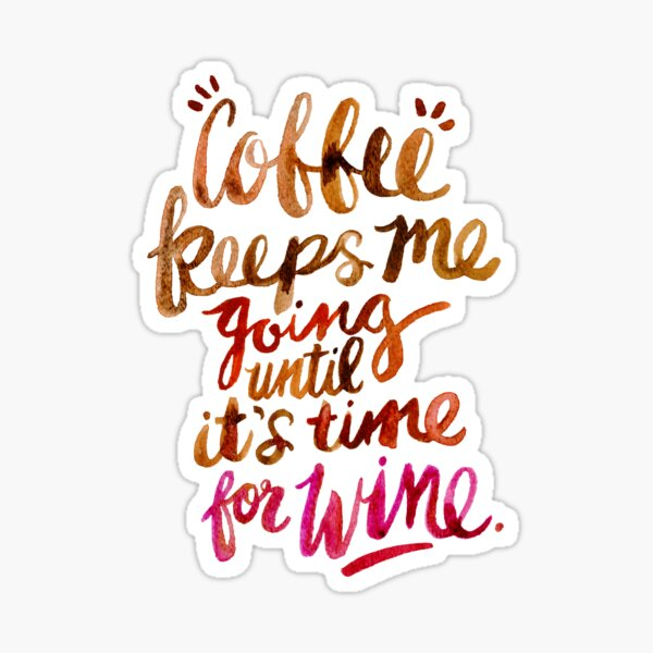 Coffee & Wine – Brown & Magenta Ombré Sticker