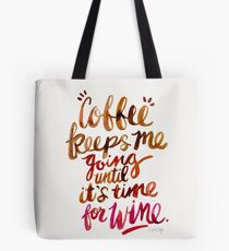 Coffee & Wine – Brown & Magenta Ombré Tote Bag