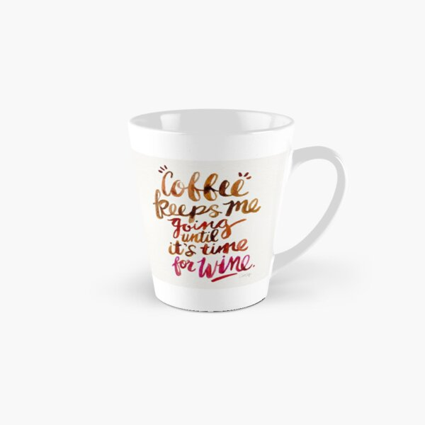 Coffee & Wine – Brown & Magenta Ombré Tall Mug
