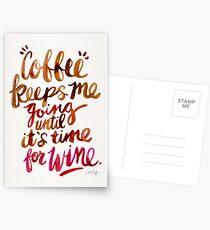 Coffee & Wine – Brown & Magenta Ombré Postcards