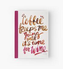 Coffee & Wine – Brown & Magenta Ombré Hardcover Journal