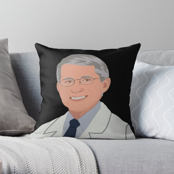 Dr Fauci Illustration - Be Dr Fauci  Throw Pillow
