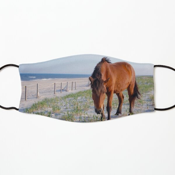 Wild horses, wildlife, Assateague Island, Mystic Beauty Kids Mask