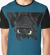 Upside Down Toothless Graphic T-Shirt