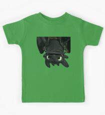 Upside Down Toothless Kids Tee