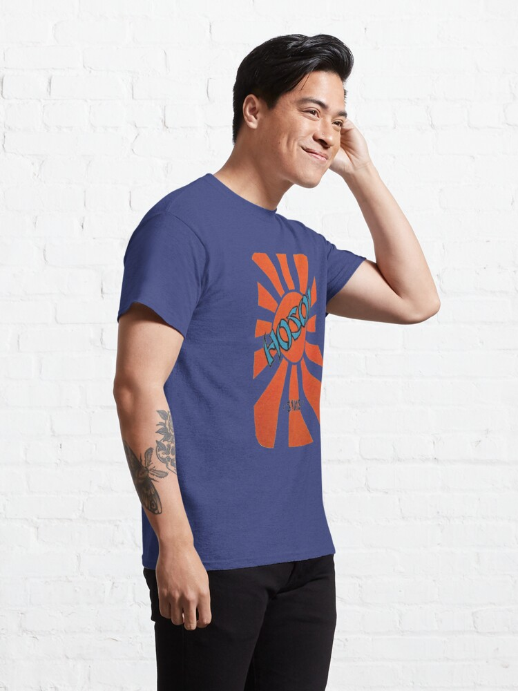 Alternate view of Hosoi sunrise, sims retro skateboard t shirt design.  Classic T-Shirt