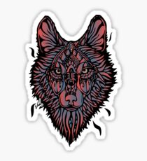 Clasic Wolf Color Paint Sticker
