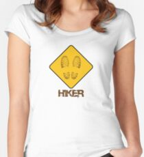 Hiker - Yield Women's Fitted Scoop T-Shirt