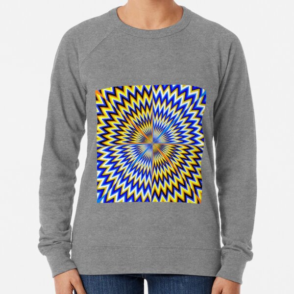 #Illusion #abstract, #pattern, #design, shape, art, futuristic, modern, illustration, geometry Lightweight Sweatshirt