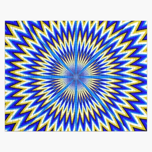 #Illusion #abstract, #pattern, #design, shape, art, futuristic, modern, illustration, geometry Jigsaw Puzzle