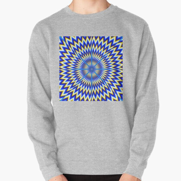 #Illusion #abstract, #pattern, #design, shape, art, futuristic, modern, illustration, geometry Pullover Sweatshirt