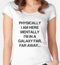 Galaxy Far Far Away Women's Fitted Scoop T-Shirt