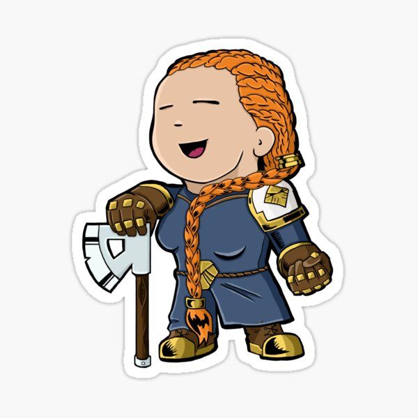 Hela the Dwarf Glossy Sticker