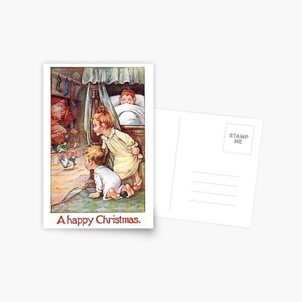 "Vintage ""A Happy Christmas"" Postcard (1917) Postcard"