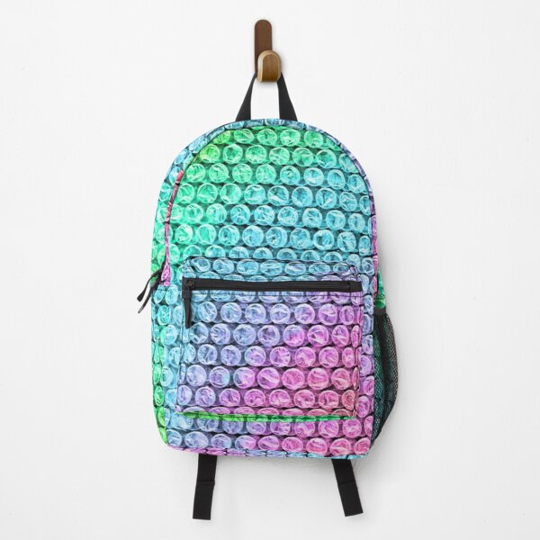 Rainbow Bubble Wrap Backpack