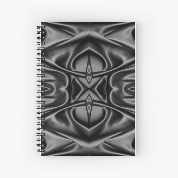 Crumpled matter, silk, wavy, dark, material, fabric, wallpapers, pictures, photos, black fabric Spiral Notebook