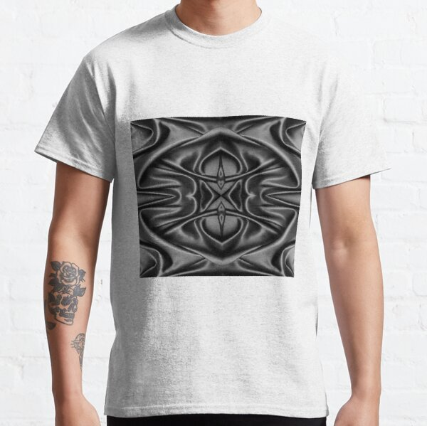 Crumpled matter, silk, wavy, dark, material, fabric, wallpapers, pictures, photos, black fabric Classic T-Shirt