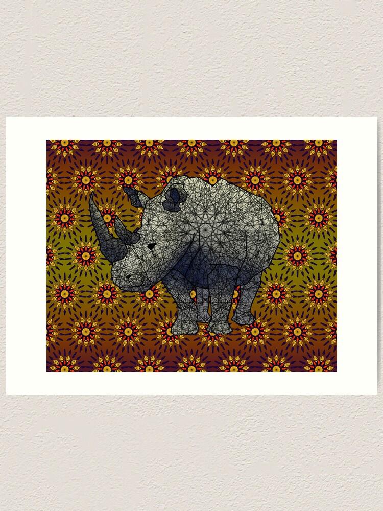 Alternate view of White Rhino Art Print