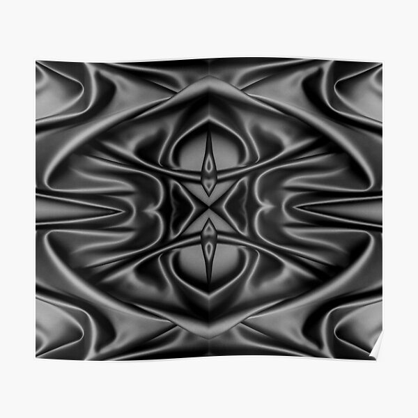 Crumpled matter, silk, wavy, dark, material, fabric, wallpapers, pictures, photos, black fabric Poster