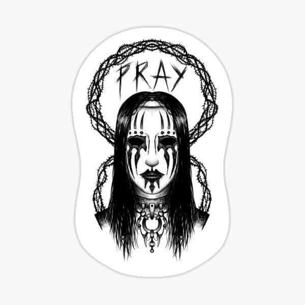 Joey Jordison - Priez Sticker